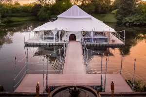 Floating pontoons hired for a wedding