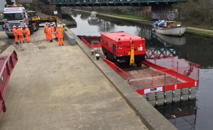 Moving a 6 Ton compressor down a Canal?