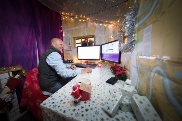 Pontoon Hire office becomes Santa's Grotto