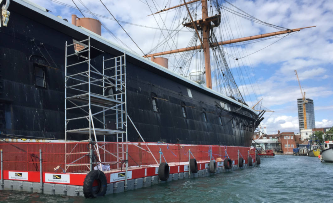 Repainting HMS Warrior