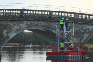 Bridge repair platform