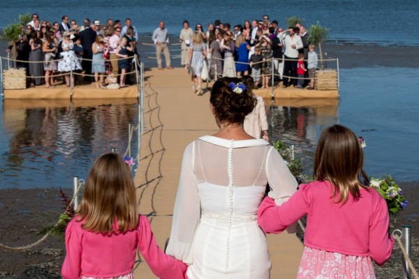 Wedding pontoon walkway