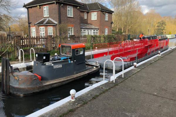 Pontoons on canal