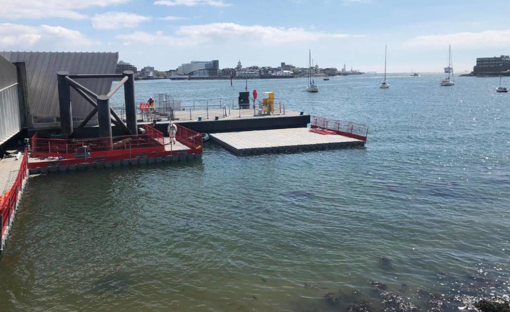 Floating pontoon for Gosport ferry