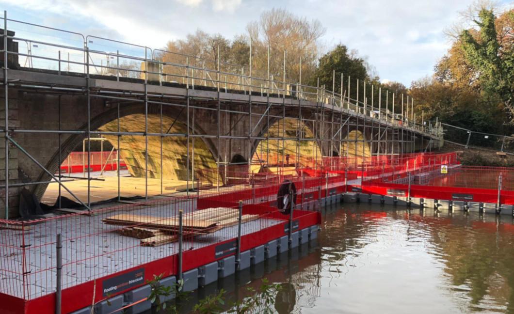 Pontoon for bridge repair